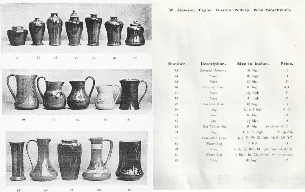 A sample page of the 1905 catalogue.