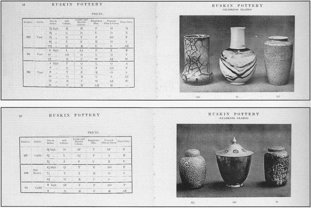 Two sample pages of the 1913 catalogue.