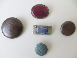 Variety of desirable glazes, aventurine, high-fired and kingfisher.