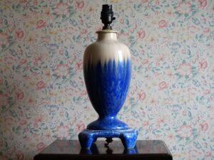 Blue crystalline lamp.