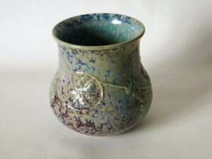 1927 circa high-fired vase, with moulded decoration.
