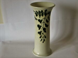Lily vase with wisteria design.
