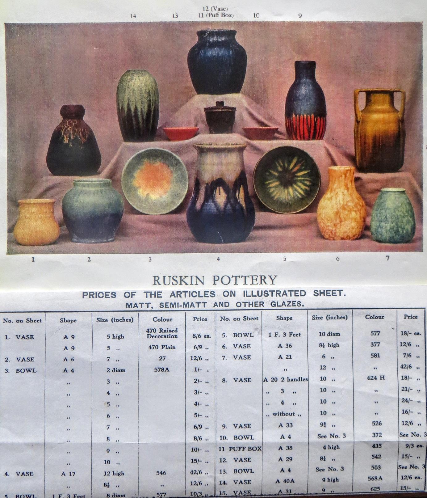 Ruskin's Art Craft 'A' Shape publicity folder circa 1928.