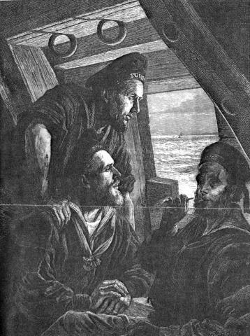 Nearing Home, etching from The Graphic