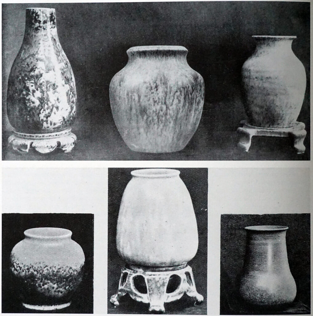 1928 Studio page, vases on stand